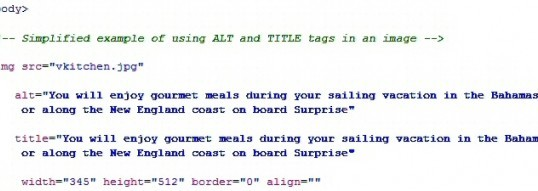 How To Code ALT and TITLE Image Tags